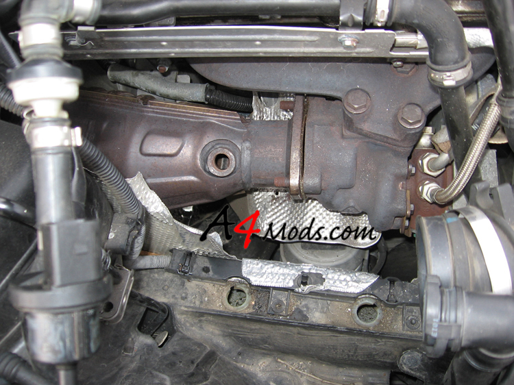 B6 Audi A4 - Big Turbo Upgrade Install APR Stage 3 o2 sensor removal